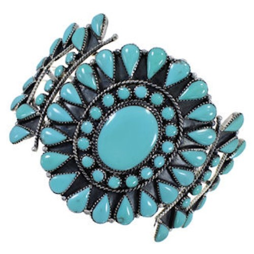 Southwest Silver Turquoise Cuff Bracelet IS60955