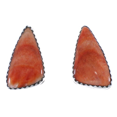 Oyster Shell Native American Silver Navajo Post Earrings PX40516