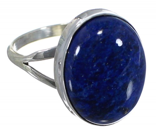 American Indian Lapis Jewelry Sterling Silver Ring Size 5-1/4 PX40325