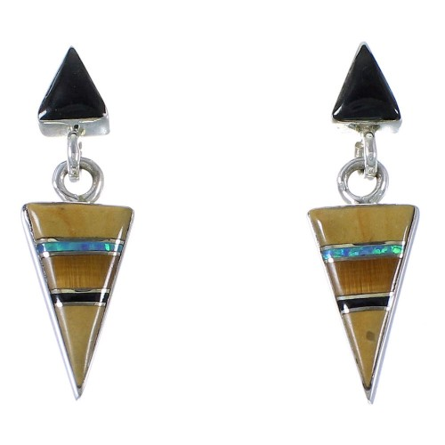 Southwestern Multicolor Inlay Earrings EX41223