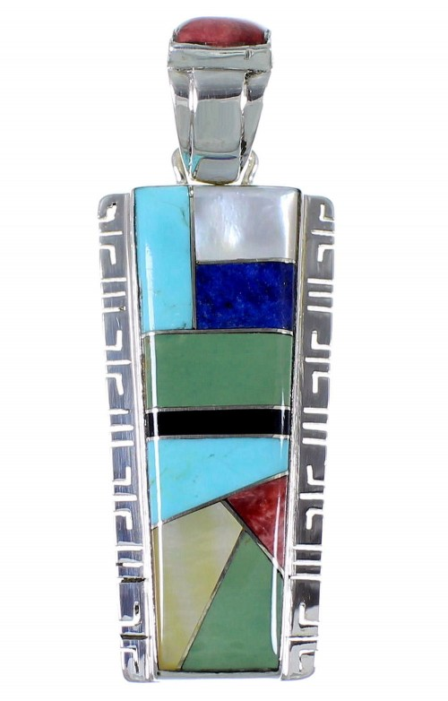 Silver And Multicolor Jewelry Pendant PX41580