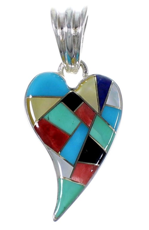 Sterling Silver Multicolor Jewelry Southwest Pendant PX41849