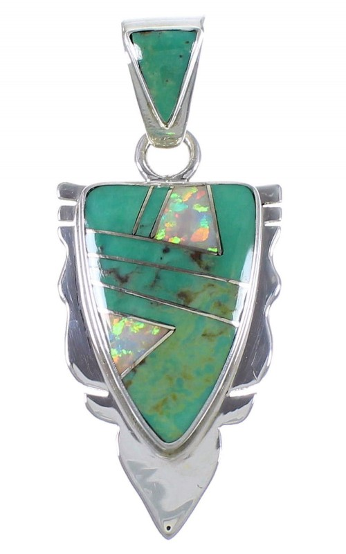 Southwestern Jewelry Opal Turquoise Pendant PX42099