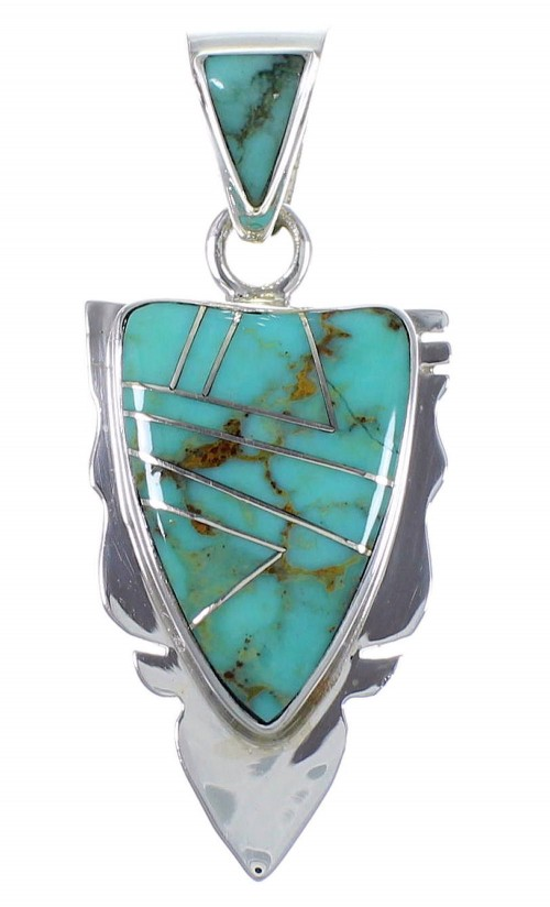 Southwest Jewelry Turquoise Sterling Silver Pendant PX42136