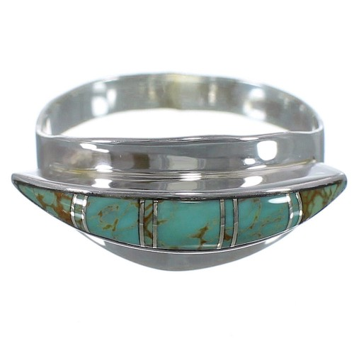 Southwest Turquoise And Silver Ring Size 8 EX44883