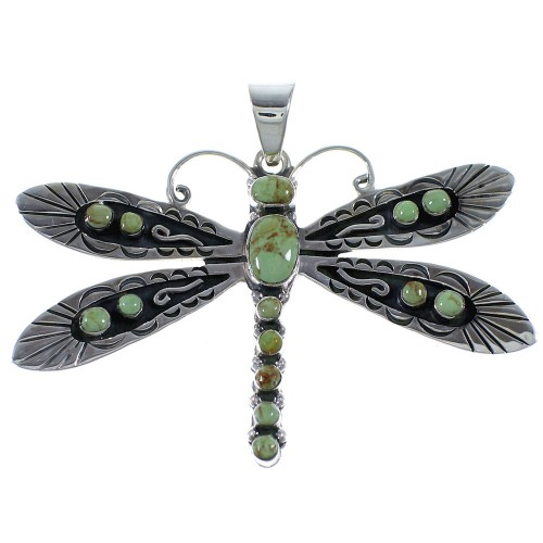 Southwestern Dragonfly Turquoise Jewelry Pendant PX42934