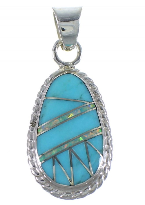 Southwest Opal And Turquoise Pendant PX42968