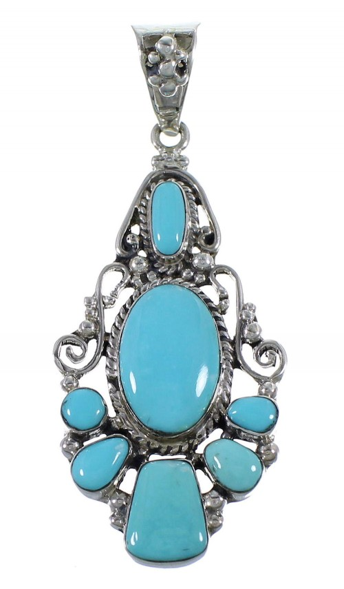 Silver Southwestern Turquoise Jewelry Pendant CX46014