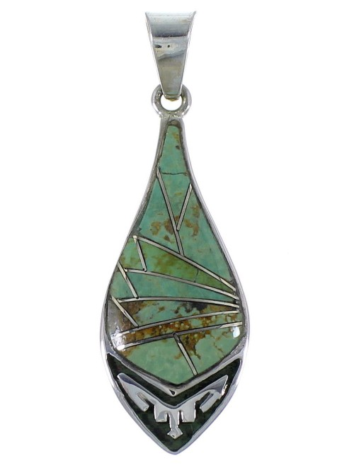 Southwest Turquoise Sterling Silver Jewelry Pendant CX46639