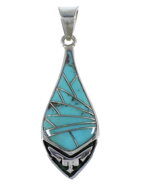 Southwestern Turquoise And Sterling Silver Pendant CX46668