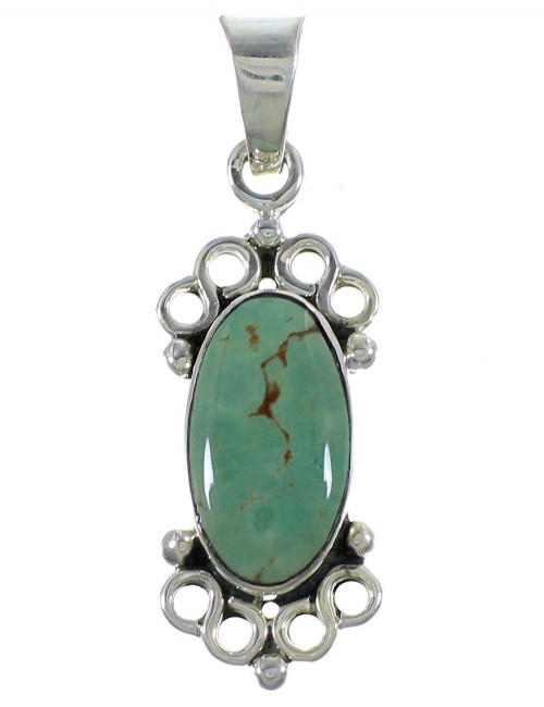 Turquoise Sterling Silver Southwestern Pendant CX46760