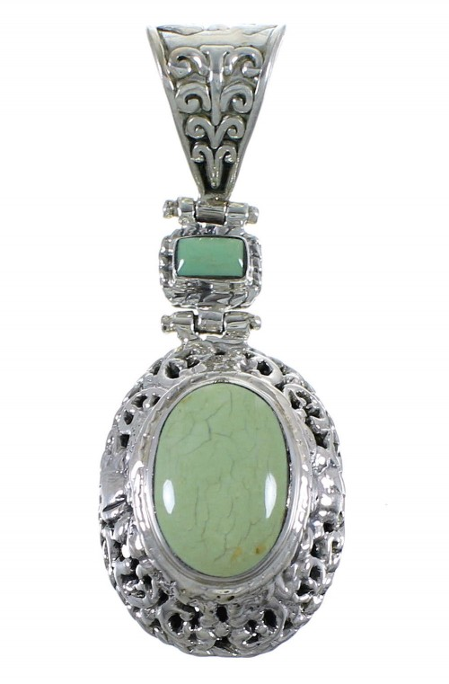 Southwest Turquoise And Sterling Silver Pendant Jewelry CX46770