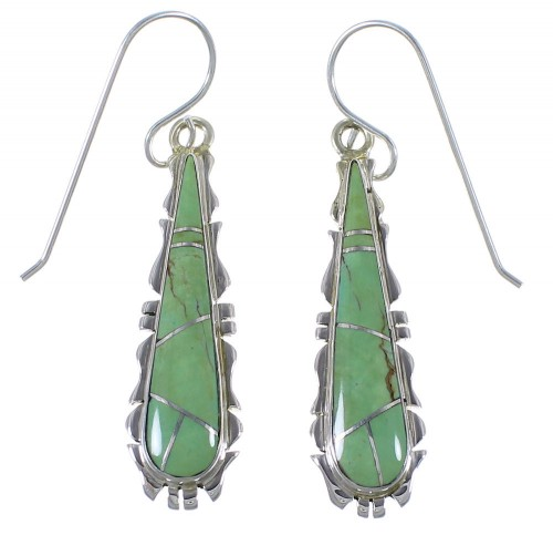 Southwest Turquoise Silver Earrings CX45178
