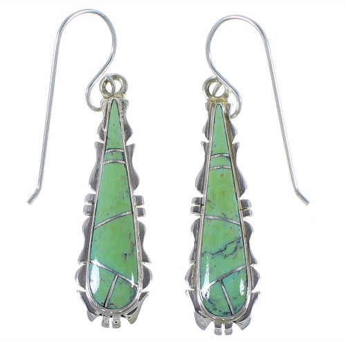Southwest Turquoise Genuine Sterling Silver Jewelry Earrings CX45282