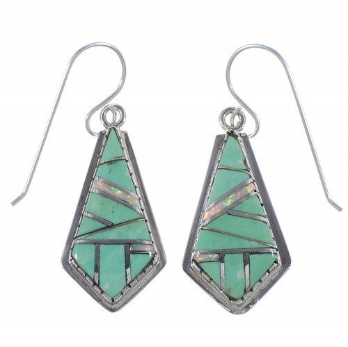 Southwestern Turquoise And Opal Earrings CX45333