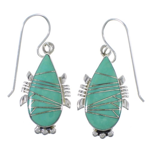 Silver Turquoise Hook Dangle Earring CX45518