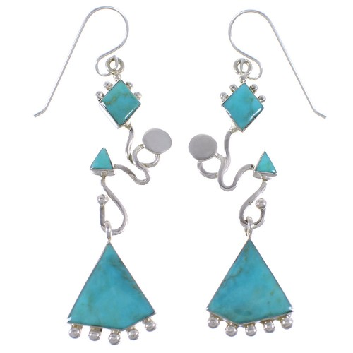 Southwest Sterling Silver Jewelry Turquoise Earrings CX46932