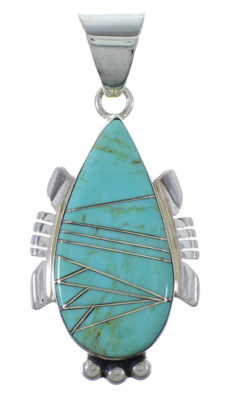 Turquoise And Sterling Silver Pendant EX44410
