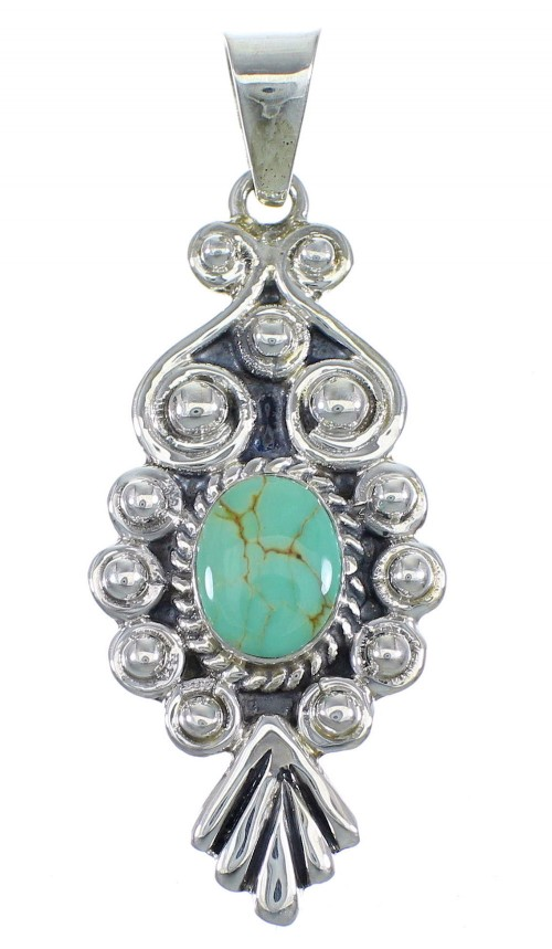 Turquoise And Silver Southwest Jewelry Pendant CX46071