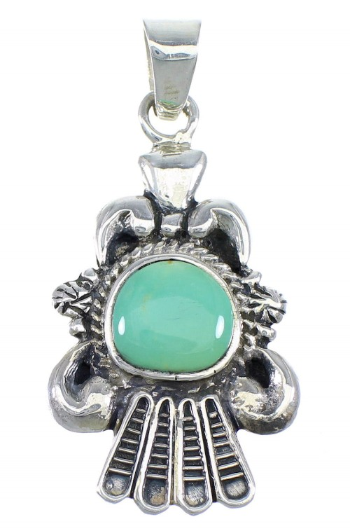 Turquoise Southwestern Silver Jewelry Pendant CX46089