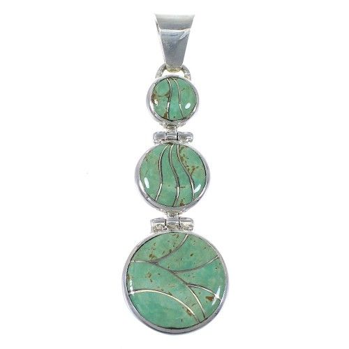 Southwest Turquoise Genuine Sterling Silver Pendant Jewelry CX47323