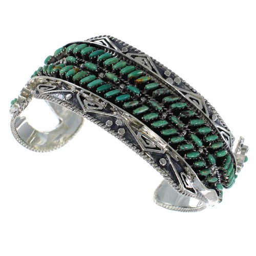 Water Waves High Quality Silver Turquoise Cuff Bracelet CX47611