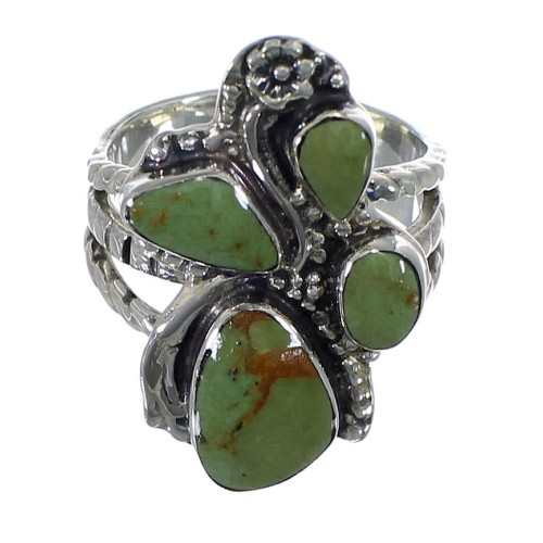 Turquoise Sterling Silver Southwest Ring Size 6-1/2 CX49806