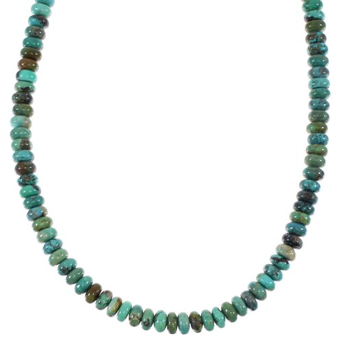 Turquoise Genuine Sterling Silver Southwest Bead Necklace TX47602