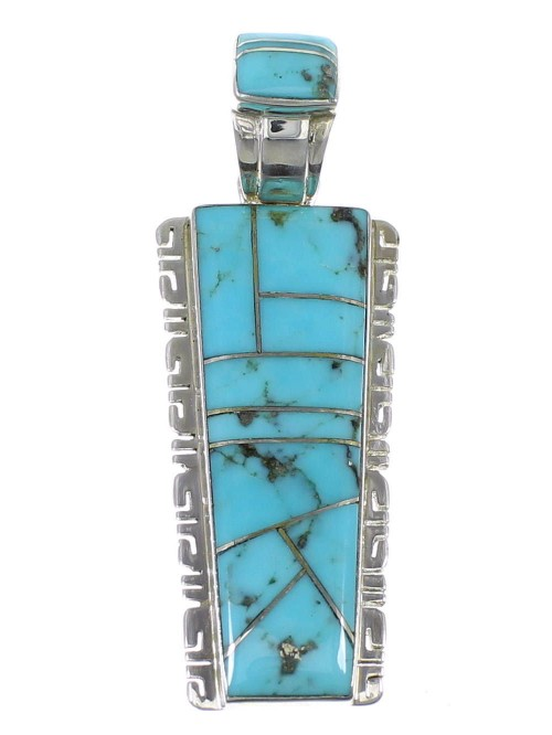 Turquoise Jewelry Silver Pendant AX47906