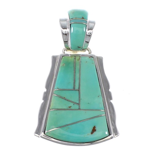 Authentic Sterling Silve Turquoise Slide Pendant AX47966