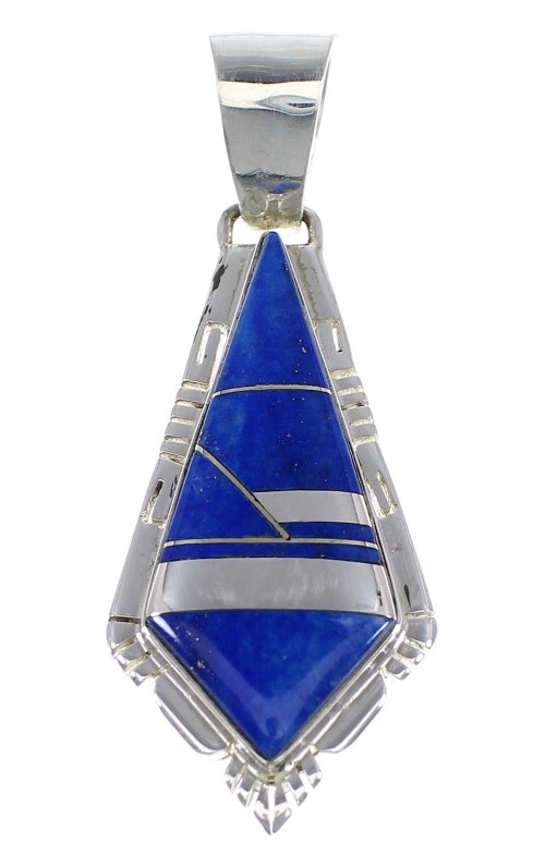 Authentic Sterling Silver Lapis Jewelry Pendant AX48274