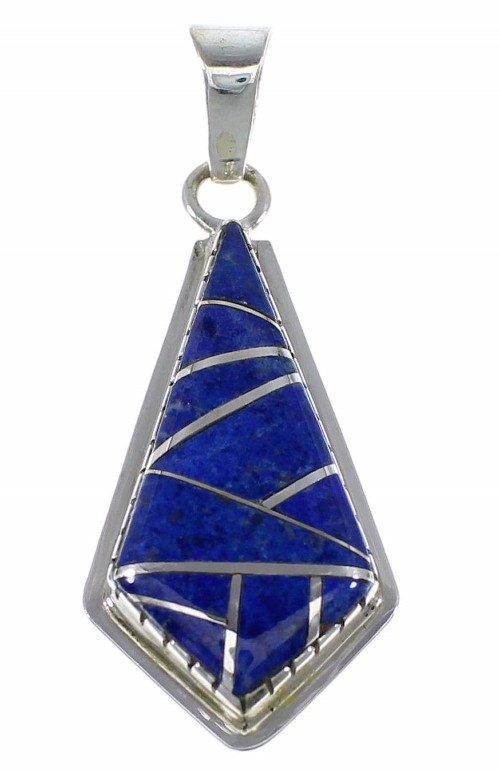 Authentic Sterling Silver And Lapis Jewelry Pendant AX48371