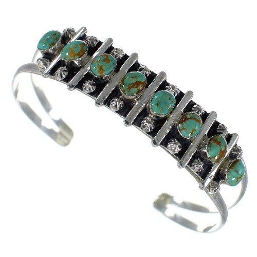 Sterling Silver Southwest Jewelry Turquoise Cuff Bracelet CX49402