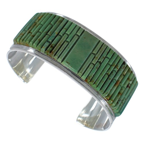 Turquoise Sterling Silver Southwest Cuff Bracelet CX49428