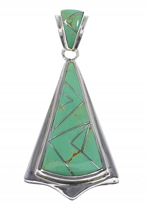 Authentic Turquoise Silver Pendant Jewelry YX51729