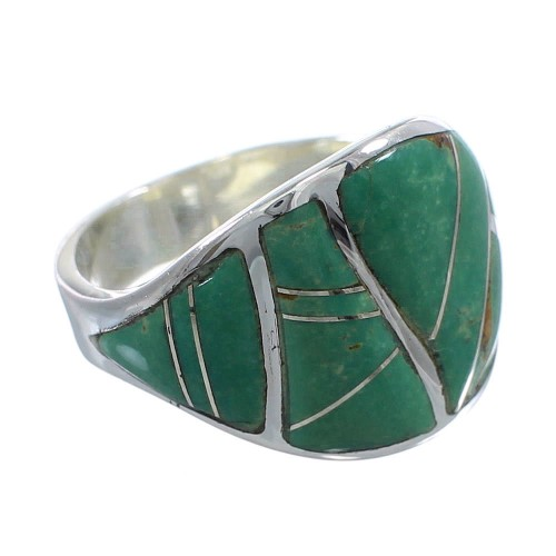 Turquoise Sterling Silver Ring Size 8-3/4 AX53171