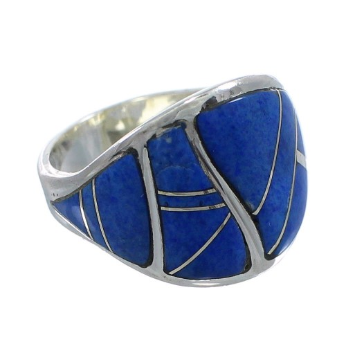Lapis And Sterling Silver Ring Size 7-1/4 AX53333