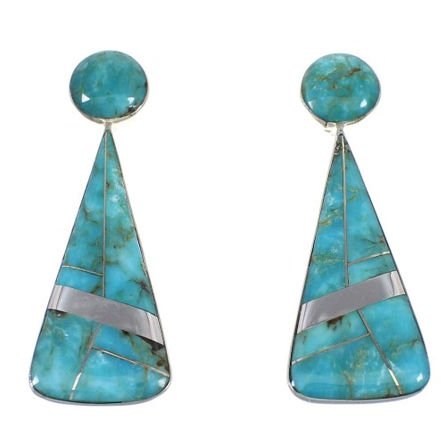 Sterling Silver Southwest Turquoise Post Earrings RX54851