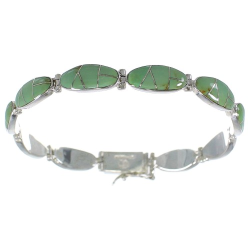 Sterling Silver Turquoise Link Bracelet AX54539