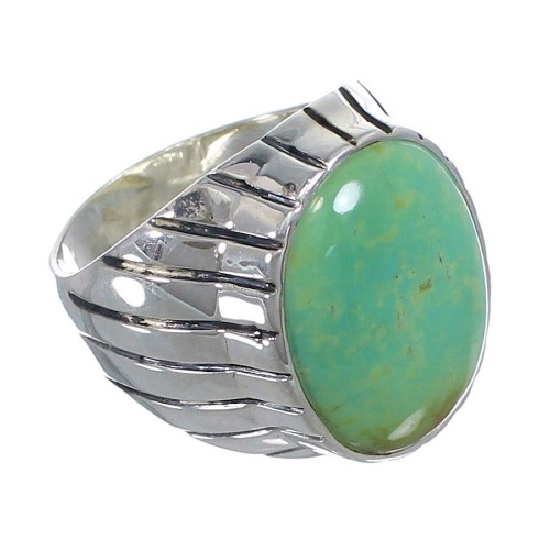 Sterling Silver Southwest Turquoise Ring Size 12-1/4 AX55340