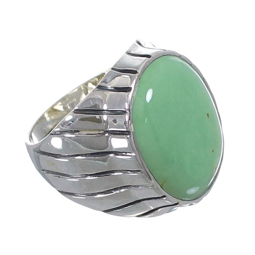 Southwest Turquoise Sterling Silver Ring Size 11-3/4 AX55392