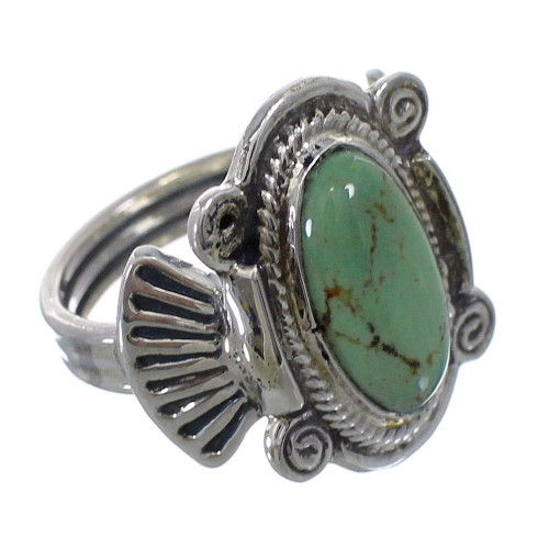 Authentic Sterling Silver And Turquoise Ring Size 5-3/4 EX56290
