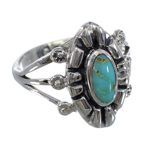 Silver Jewelry Turquoise Southwest Ring Size 4-3/4 AX61444
