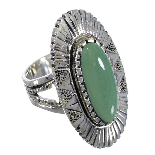 Genuine Sterling Silver And Tuquoise Ring Size 5-1/4 VX56892