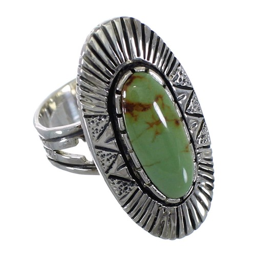 Genuine Sterling Silver And Tuquoise Jewelry Ring Size 6 VX56896