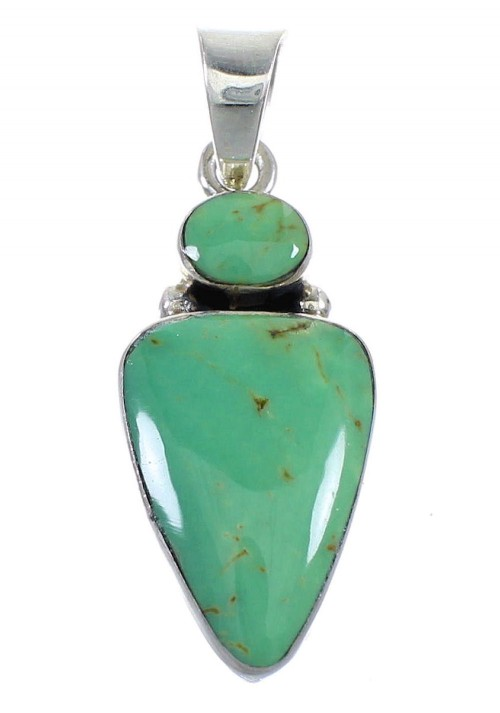 Southwest Genuine Sterling Silver and Turquoise Pendant RX54413
