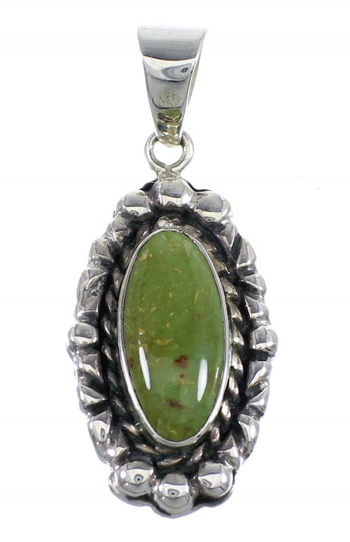 Turquoise Southwest Sterling Silver Pendant RX54478