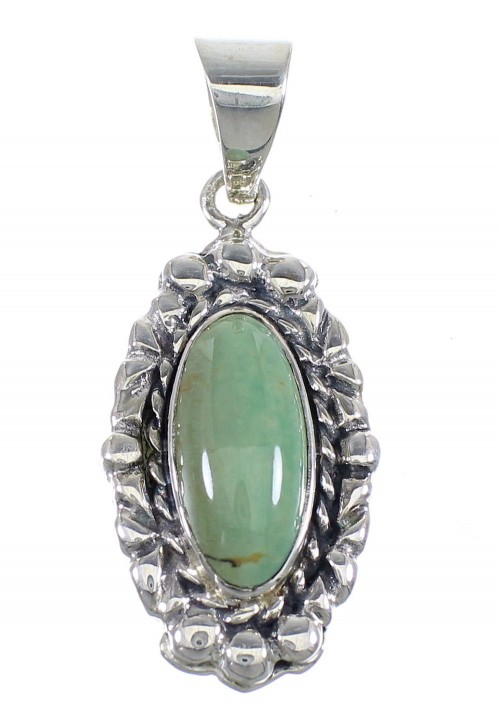 Turquoise And Authentic Sterling Silver Pendant RX54483