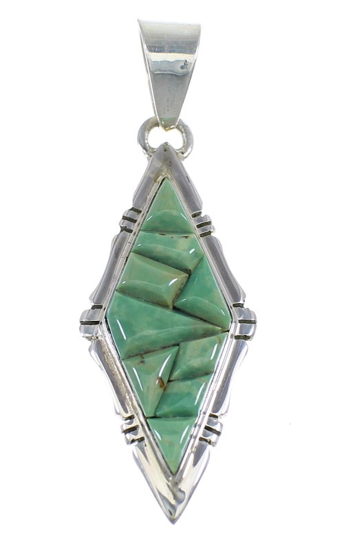 Turquoise Sterling Silver Southwest Pendant RX54368