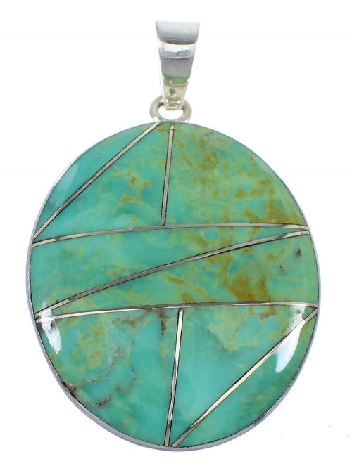 Southwest Turquoise And Genuine Sterling Silver Pendant VX55423
